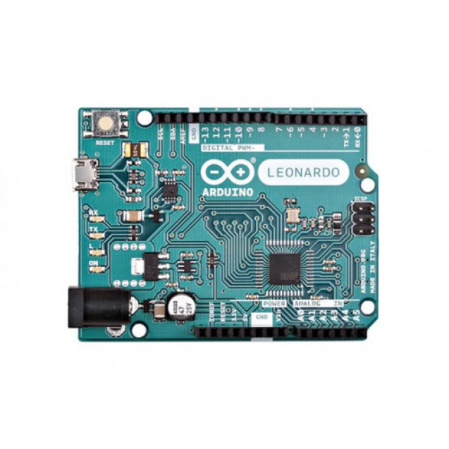 Плата микроконтроллера Arduino Leonardo  (Оригинал Италия)