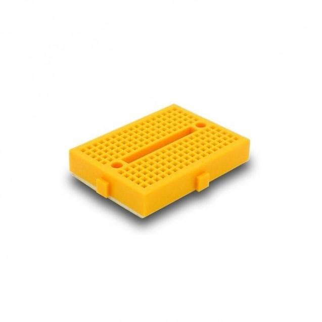 Макетная плата беспаечная на 170 контактов (желтая)