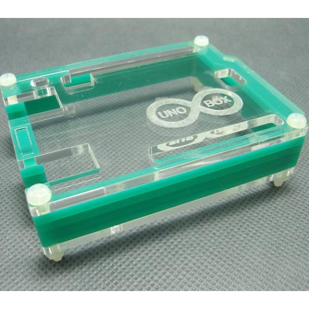 Корпус для Arduino Uno с гравировкой зеленый
