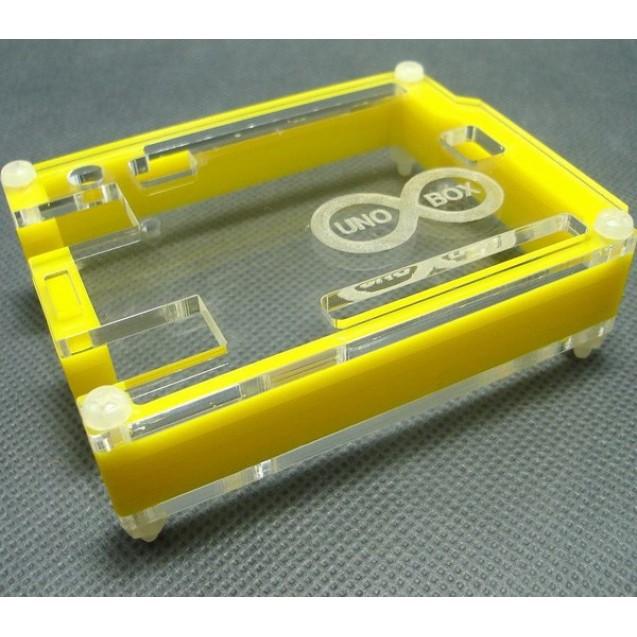 Корпус для Arduino Uno с гравировкой желтый