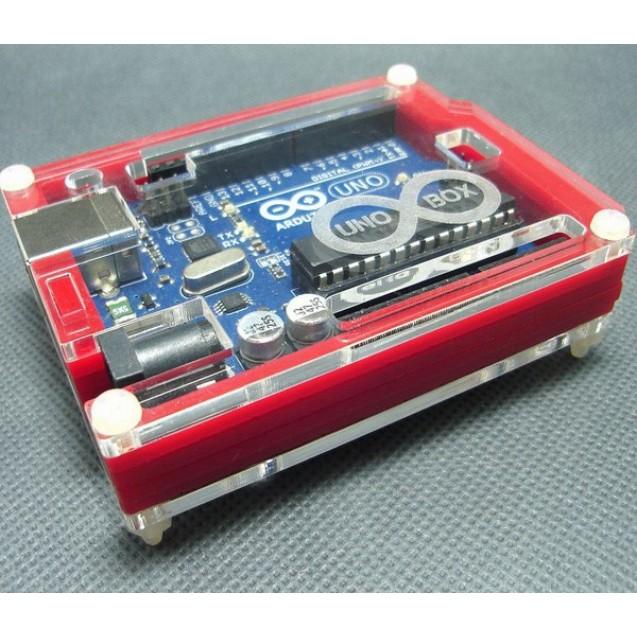 Корпус для Arduino Uno красный с гравировкой