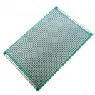 Макетная плата под пайку двухсторонняя 90х150мм стеклотекстолит (зеленая)
