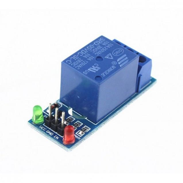 1-канальный модуль реле, питание и управление - 5В, контакты 250В, 10А